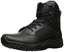Under Armour Women's Stellar Military and Tactical Boot, Black (001)/Black, 6