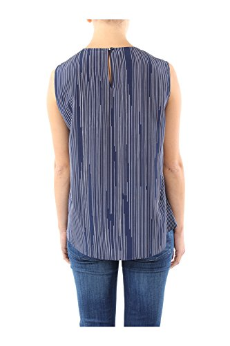 5151TO07975K01 Kenzo Tops Mujer Seda Azul Blu
