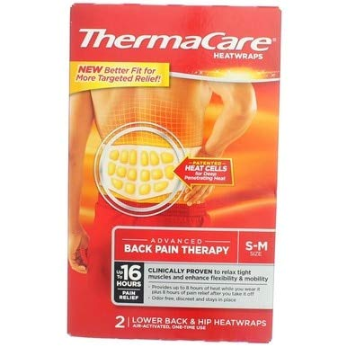 - ThermaCare HeatWraps Lower Back & Hip Size S-M - 2 ct, Pack of 5