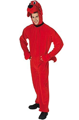 [8eighteen Big Red Dog Deluxe Clifford Adult Costume] (Adult Vintage Witch Costumes)