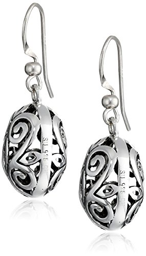Sterling-Silver-Filigree-Oval-Drop-Earrings