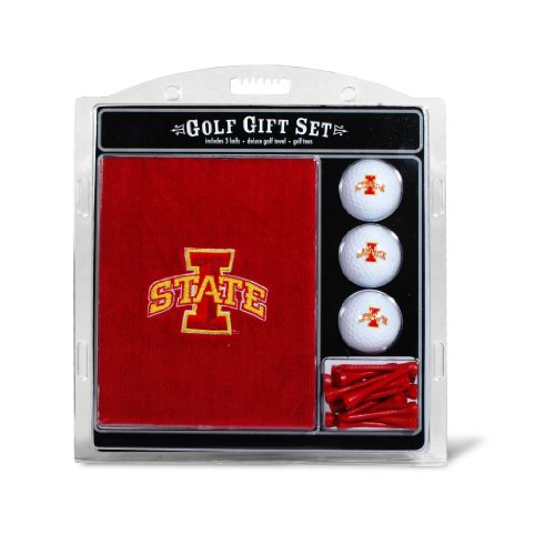 (Team Golf NCAA Iowa State Cyclones Gift Set Embroidered Golf Towel, 3 Golf Balls, and 14 Golf Tees 2-3/4