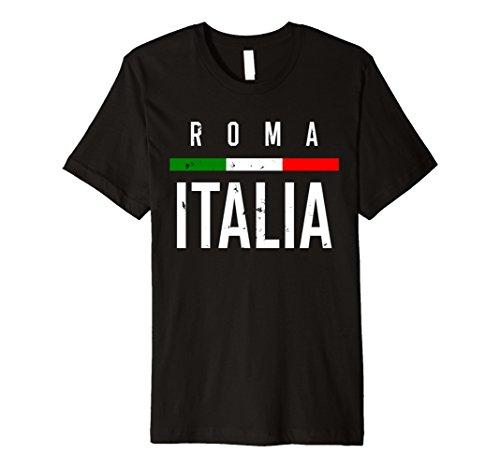 (Roma Italia Shirt Travel Souvenir Tee Italian Flag Shirt)
