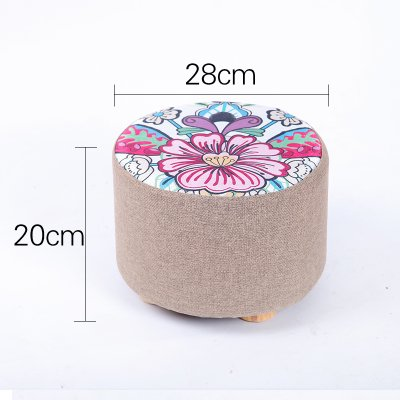 STJK$BMJW You Can Remove And Wash Low Stools Fabrics Solid Wood Living Room Chair For Shoes Is Bedroom Coffee Table Small Children 20 Cm High Stool 07