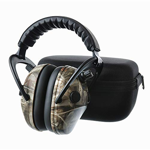 PROTEAR Sound Amplification Electronic Shooting Range Earmuff with a Carrying Case - NRR 24dB Hearing Protection Ear Muffs, Professional Noise Reduction Headphones for Hunting