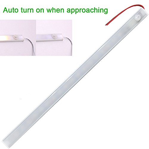 12v-LEDlight Smart Interior Light Strip (AUTO TURN ON WHEN APPROACHING) -  Ultra Slim Under Cabinet Lighting Warm White for Boats Camper