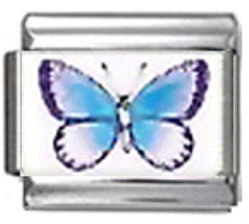 Butterfly Italian Charm Bracelet Link - Stylysh Charms Butterfly Insect Photo Italian 9mm Link BI096