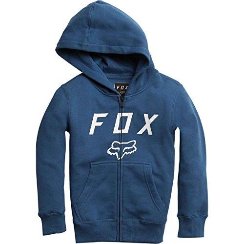 Fox Racing Boys Legacy Moth Zip Pile Felpe Con Cappuccio Zip Blu Polveroso