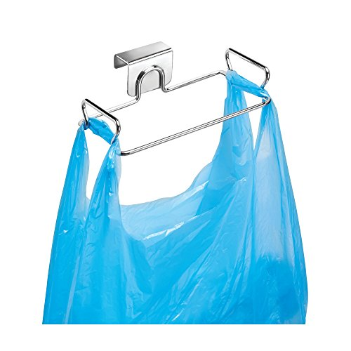 InterDesign Classico Metal Over the Cabinet Plastic Bag Holder for Kitchen, Pantry, Bathroom, Dorm Room, Office, 5.5