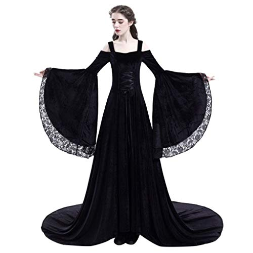 Scary Ballerina Costumes Ideas - Forthery Women Princess Dress Retro Medieval