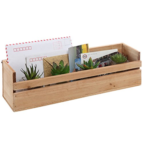 mygift handmade wall mounted decorative wooden shelf storage box organizer unfinished lavorist. Black Bedroom Furniture Sets. Home Design Ideas