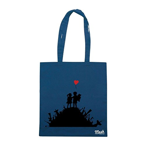 Borsa Banksy Bambini Pace - Blu Navy - Famosi by Mush Dress Your Style