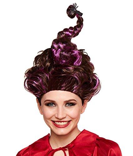 Hocus Pocus Sarah Costume (Hocus Pocus Mary Sanderson Deluxe Adult Wig With Purple Highlights)