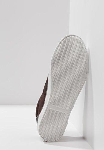 YOURTURN Sneaker Herren mit Leder Applikation in Braun o. Schwarz