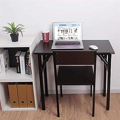 QTQZDD Mesa de Estudio Plegable para computadora de Escritorio ...