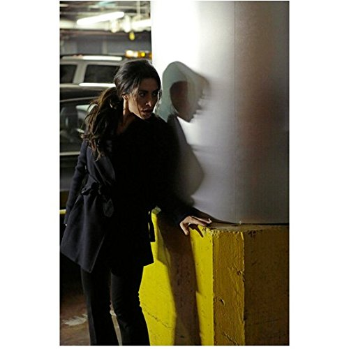 (Person of Interest (TV Series 2011 - ) 8 inch by 10 inch PHOTOGRAPH Sarah Shahi Being Sneaky Around Support Post in Parking Garage kn)