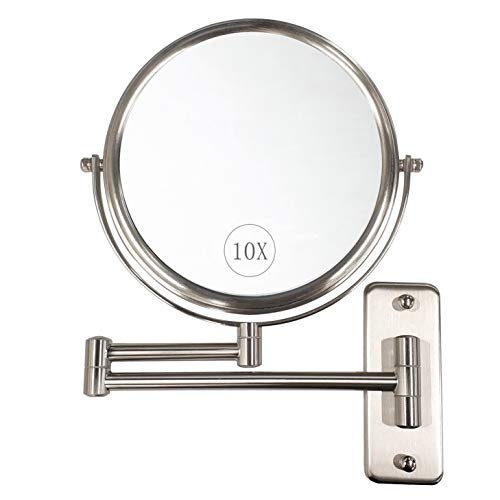 ALHAKIN Wall Mounted Makeup Mirror - 10x Magnification 8