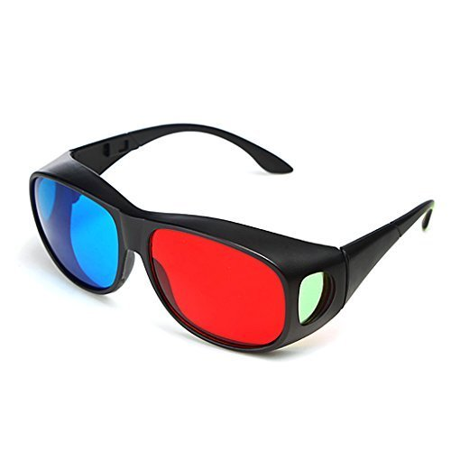 Red-blue 3D Glasses/ Cyan Anaglyph Simple style 3D Glasses 3D movie game-Extra Upgrade Style