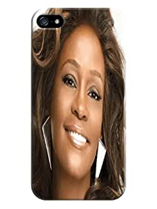 Water Resistant and Shock Proof pretty Whitney Houston TPU Protector fashionable Cover for iphone 5/5s