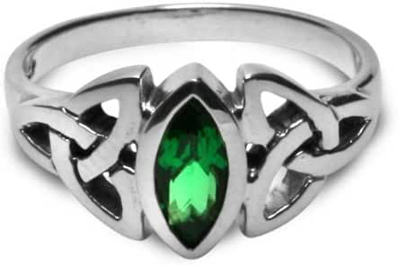 Triskele Marquise Emerald Ring