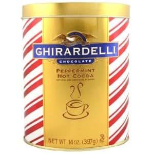 Ghirardelli Chocolate Peppermint Hot Cocoa Gift Tin, 14 oz.