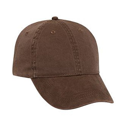 Otto Caps Washed Pigment Dyed Cotton Twill Solid and Two Tone Color Low Profile Pro Style Cap with Brass Buckle (Solid Twill Pigment Dyed Cap)