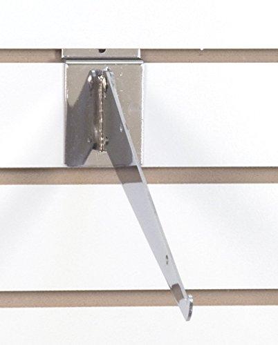 KC Store Fixtures A01733 Adjustable Slatwall Shelf Bracket, 12