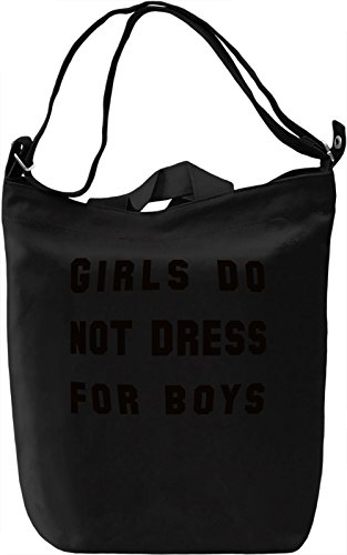 Dress for Girls Borsa Giornaliera Canvas Canvas Day Bag| 100% Premium Cotton Canvas| DTG Printing|