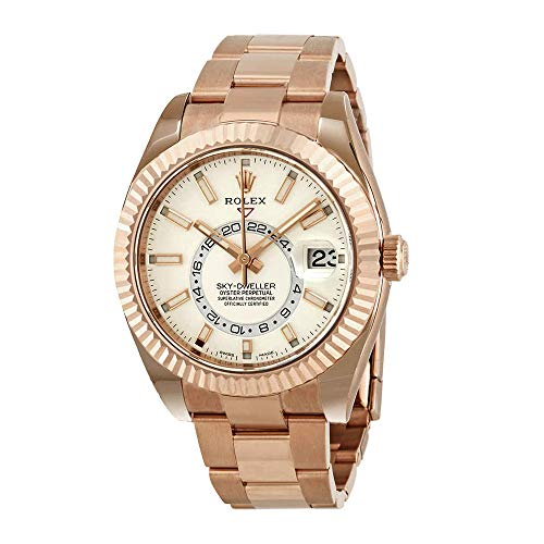 Rolex Sky-Dweller White Dial Automatic Men's 18kt Everrose Gold Oyster Watch 326935WSO