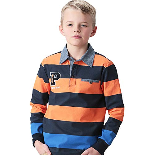 - Leo&Lily Boys' Big LLB3520-12-Orange-MFN, Orange, 12