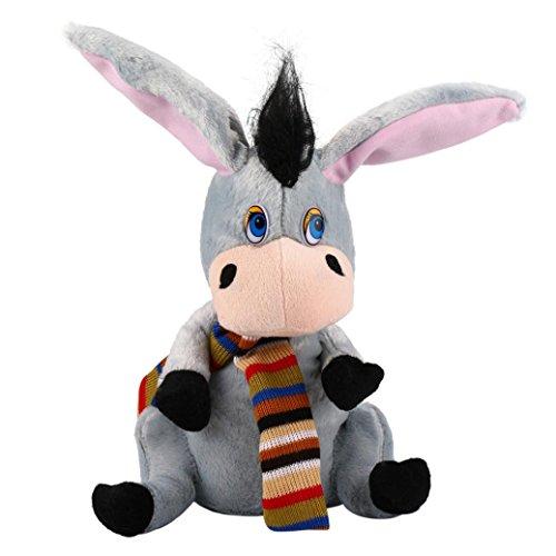 Boyiya Funny LED Fan Duck/ Sloshing Induction Roll Around Plush Toy, Singing Stuffed Animated Animal Kid Doll Christmas Gift (B) (Br Baby Doll)