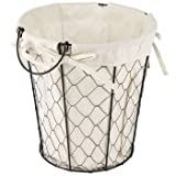DollarItemDirect WIRE BASKET W/COTTON LINER ROUND 9.75H X 9.5DIA, Case Pack of 12