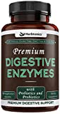 High Strength Digestive Enzymes Supplements with Probiotics & Prebiotics for Women & Men- Designed to Decrease Bloating and Flatulence with Protease Enzyme, Bromelain, and Lactase; Digestion,