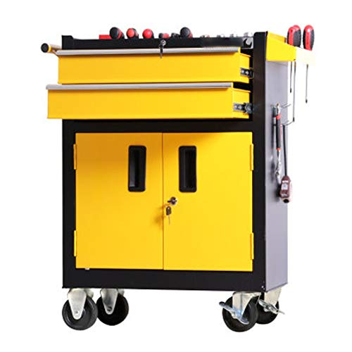 BGROEST Maintenance Tool Cart Container Equipment Cart Workshop Tool Auto Repair Tool Trolley Tool Cart With Drawer…