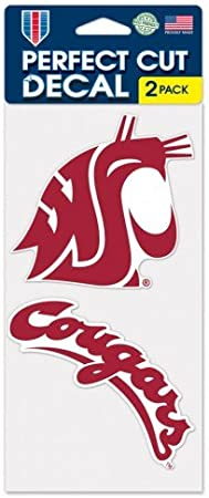 Wincraft Washington State Cougars 4x5 Perfect Cut State Decal