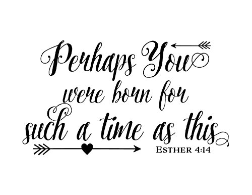 Ditooms Perhaps you were born for such a time as this - Teen Girl Scripture wall decal Bible Verse Wall Vinyl
