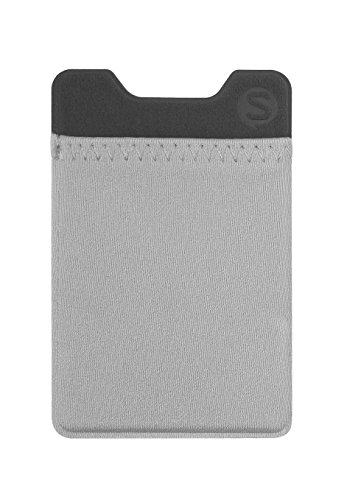 Silk Stick-on Phone Wallet - Sidecar Slim Expandable Credit Card Pocket - Fits iPhone and Android (Gunmetal Gray)
