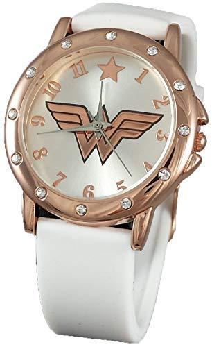 Wonder Woman WOW5006 White Rubber Watch w/Rosegold Case