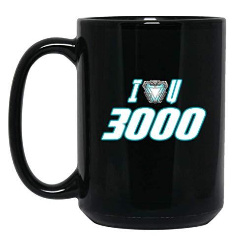 MUG I Love You 3000 T-Shirt Love DAD Shirt Gifts for Women Men Boys Girls Big Fans Standard Coffee Mugs, Funny Quotes Unique Gifting ideas - Premium Quality printed (Black, 15oz.)]()