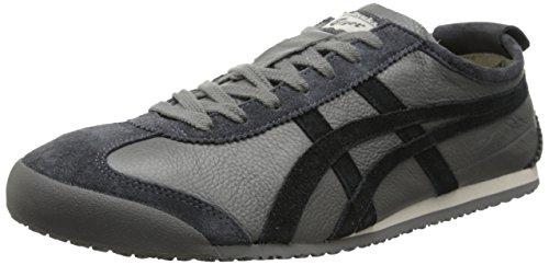 Onitsuka Tiger Mexico 66 Vin Classic Running Shoe, Grey/Black, 12 M US