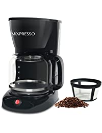 Drip Coffee Maker By Mixpresso Coffee (12 Cups), Black Noticeable