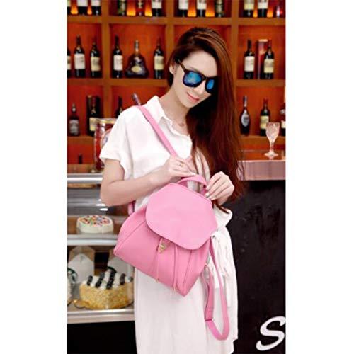 Ocio Mochila Femenino Estudiante Bolsa Pink Suave Tamaño Amarillo Nueva La Pequeña Versión De Moda 26x14x30cm Coreana Cuero color Viajes Simple Hombro Bolso Qxjpz 0q6gawBw