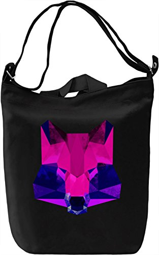 Purple Raccoon Face Borsa Giornaliera Canvas Canvas Day Bag| 100% Premium Cotton Canvas| DTG Printing|