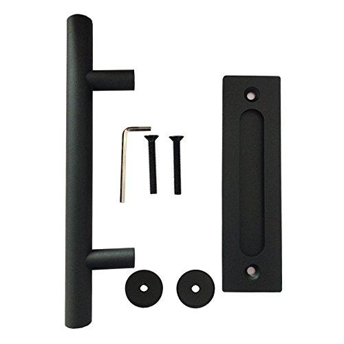 und Spulgriff-Set in Schwarz fur Schiebeturen aus Holz CCJH Zug