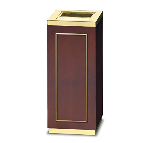 Rubbermaid Commercial Products FGDW12SUTMAH Designer Line Accents Ash/Trash Refuse Container (5-Gallon, Brass and (Brass Designer Series)