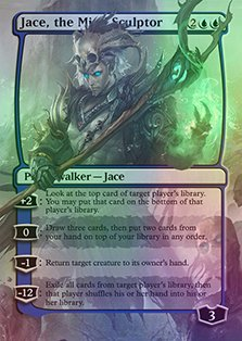 Jace, the Mind Sculptor - Casual Play Only - Customs Altered Art Foil