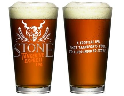 Stone Brewing Company - Tangerine Express IPA - Pint Glass (Brewing Company Stone)