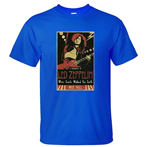 XANAB Led Zeppelin Poster Custom Men T Shirt blue XXL (Neutral Milk Hotel Poster compare prices)
