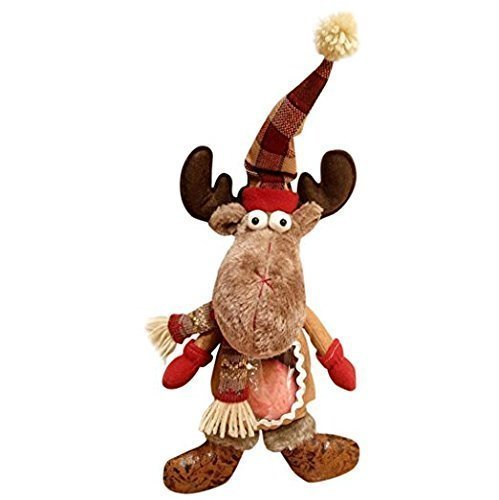 [UChic 1PCS 43 x 22 cm Gift Bag Xmas Creative Large Apple Packaging Decoration Eve Elk Deer Cute Plush Doll Merry Christmas Moose Doll Ornament Hanging Decor] (Infant Nightmare Before Christmas Sally Costume)