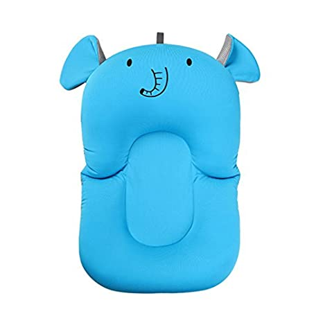 UNAOIWN Baby Bath Cushion, Newborn Bath Anti-Slip Cushion Seat, Infant Floating Bather Bathtub Pad Sponge (Pink, Rabbit) SILEKANG 4336306122